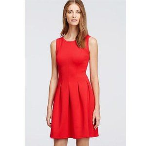 NWT J. Crew Red Pleated A Line Flare Dress Size 12
